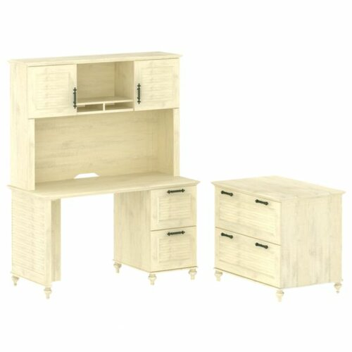 kathy ireland Office by Bush Volcano Dusk Small 2 Drawer Standard Desk Office Suite