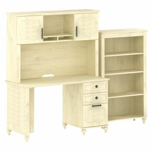kathy ireland Office by Bush Volcano Dusk Small File Drawer Standard Desk Office Suite