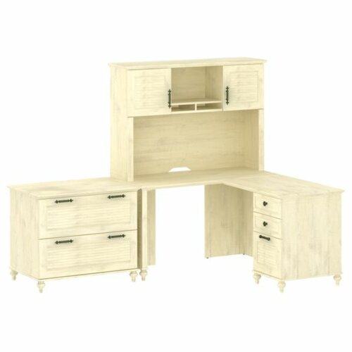 kathy ireland Office by Bush Volcano Dusk L-Shape Desk Office Suite