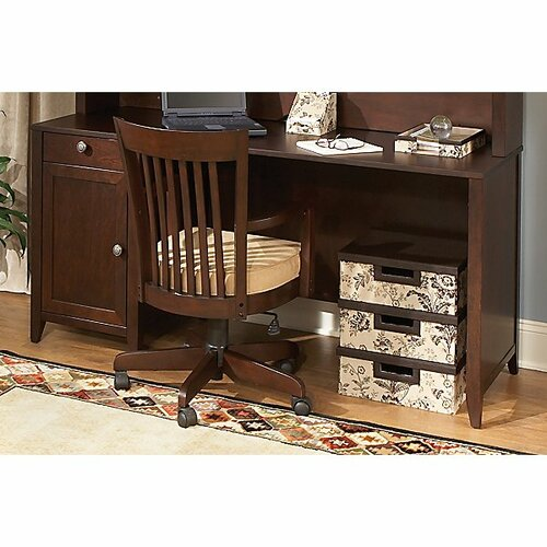 kathy ireland Office by Bush Grand Expressions Single Pedestal Writing Desk