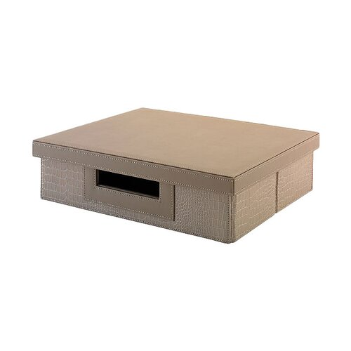 kathy ireland Office by Bush Volcano Dusk Small Storage Bin with Natural Grass Weave Pattern