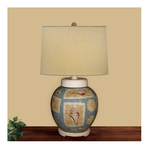 JB Hirsch Home Decor Seashell Accent Table Lamp