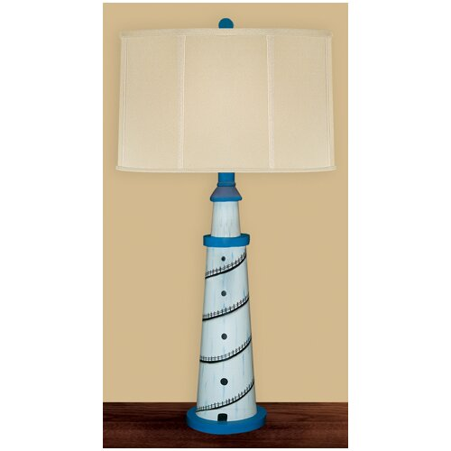 """JB Hirsch Home Decor Light House 29"""" H Table Lamp with Drum Shade"""