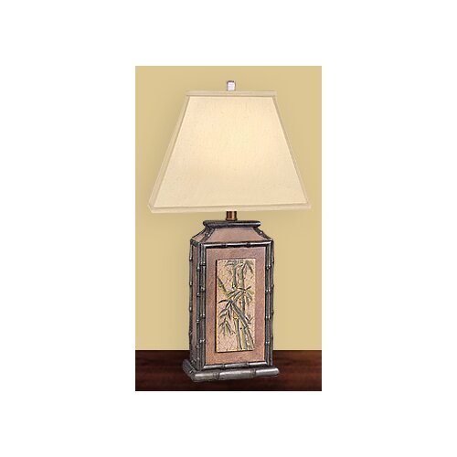 """JB Hirsch Home Decor Paradise 29"""" H Table Lamp with Square Shade"""