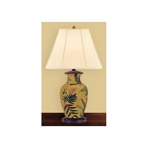 "JB Hirsch Home Decor Fern Leaf 30"" H Table Lamp"