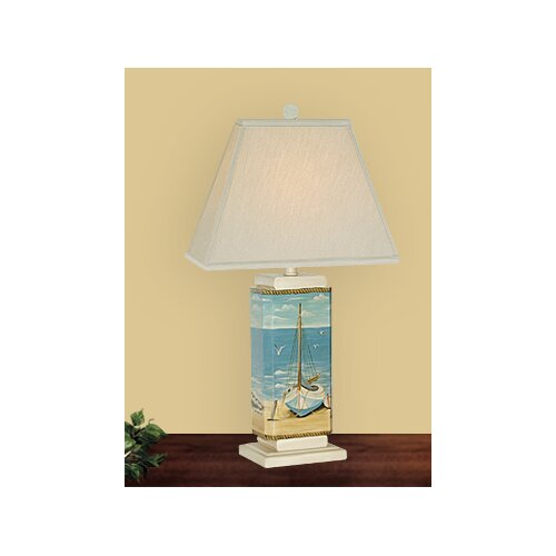 """JB Hirsch Home Decor Sail Boat 29"""" H Table Lamp with Rectangle Shade"""
