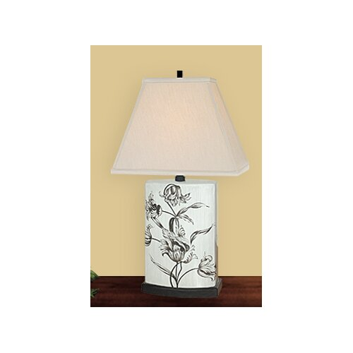 """JB Hirsch Home Decor Carefree 28"""" H Table Lamp with Rectangle Shade"""