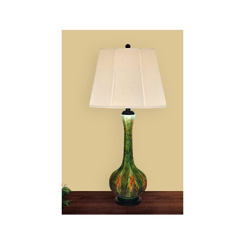 """JB Hirsch Home Decor Genie 33"""" H Table Lamp with Empire Shade"""