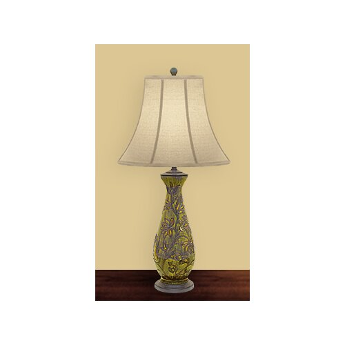 JB Hirsch Home Decor Flowering Webster Table Lamp