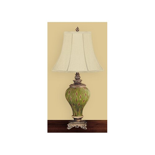 "JB Hirsch Home Decor Oakheaven Palace 32"" H Table Lamp with Bell Shade"