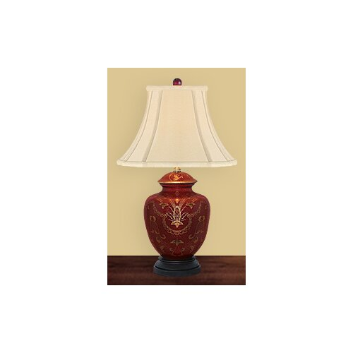 JB Hirsch Home Decor Sun Burst Heart Table Lamp