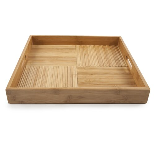 Core Bamboo Criss-Cross Square Serving Tray