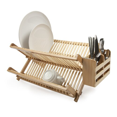 Core Bamboo Dish Rack with Utensil Holder