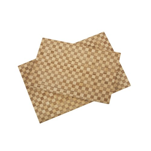 Core Bamboo Pro Chef Rectangle Checker Large Chop Block in Natural