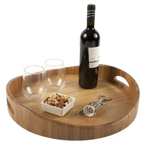 Core Bamboo Modern Round Serving Tray
