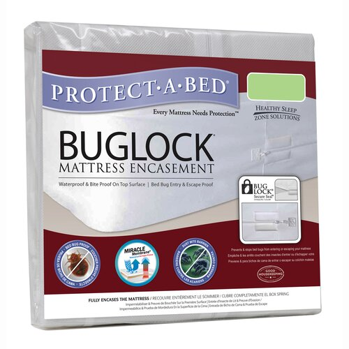 Bed Bug Blocker Zippered Mattress Protector Protect-A-Bed Buglock Bed Bug Proof Mattress Encasement