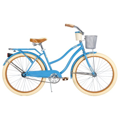 Huffy Deluxe Women's Cruiser Bike with Basket and Beverage Holder