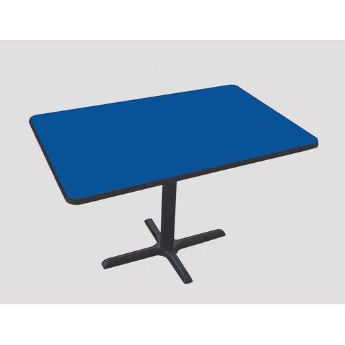Correll, Inc. Rectangular Bar and Café Table with Cross Base and Column