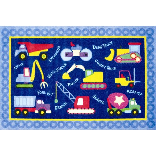 Fun Rugs Olive Kids Under Construction Truck Kids Rug
