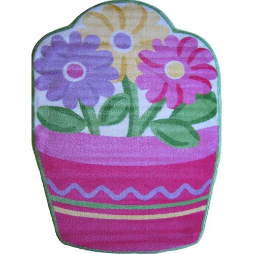 Fun Rugs Fun Shape High Pile Flower Kids Rug