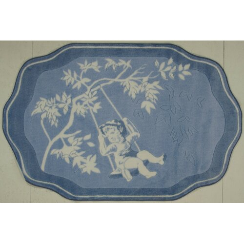 Fun Rugs Supreme Blue Toile Kids Rug