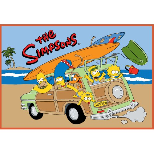 Fun Rugs The Simpsons Family Vacation Kids Rug