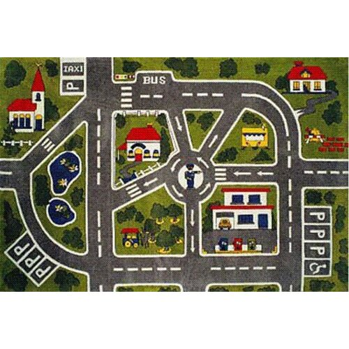 Fun Rugs Fun Time Around Town Road Kids Rug