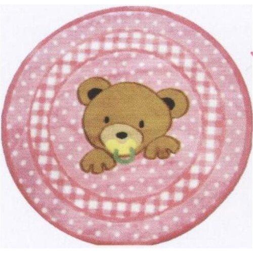Fun Rugs Supreme Teddy Center Pink Bear Kids Rug