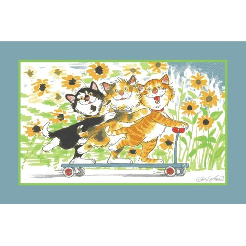 Fun Rugs Wags and Whiskers Duckport Kitties Take A Ride Kids Rug
