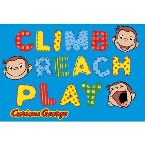 Fun Rugs Curious George Climb, Reach, Play Kids Rug