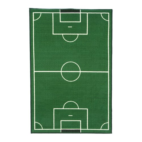 Fun Rugs Fun Time Soccer Field Sports Kids Rug