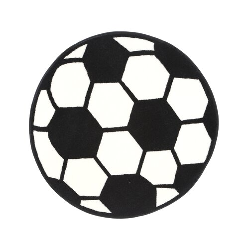 Fun Rugs Fun Shape High Pile Soccerball Sports Kids Rug