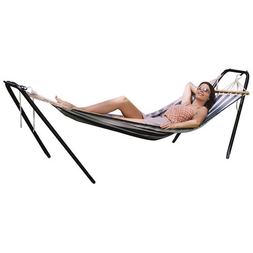 Texsport Crystal Bay Fabric Hammock with Stand Combo