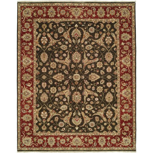 Shalom Brothers Royal Zeigler Black/Red Rug