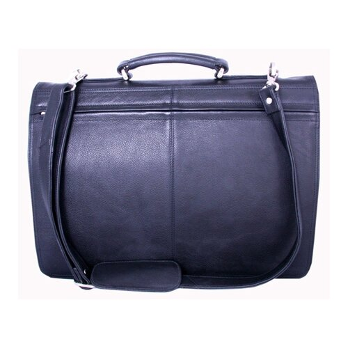 Leatherbay Double Pocket Leather Laptop Briefcase
