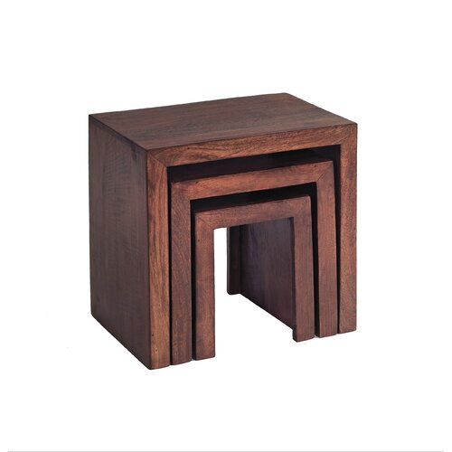 Indian Hub Mango Toko 3 Piece Nest of Tables