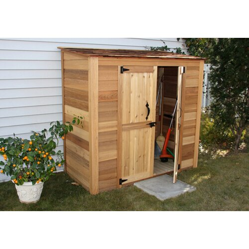 Garden chalet 7 ft w x 3 ft d wood lean to shed wayfair - Garden sheds with lean to ...
