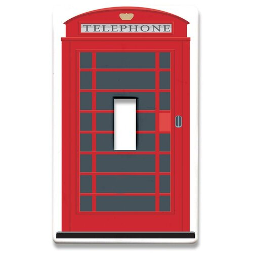 HomePlates Worldwide London Phone Booth Decorative Light Switchplate Cover - Single Toggle Switch
