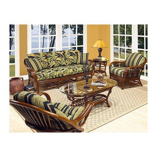 Boca Rattan Amarillo Leather Sofa