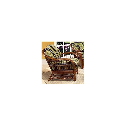 Boca Rattan Amarillo Leather Armchair
