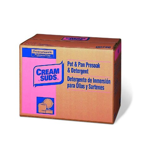 CREAM SUDS® 25 lbs Manual Pot and Pan Detergent with Phosphate Baby Powder Scent Powder Box