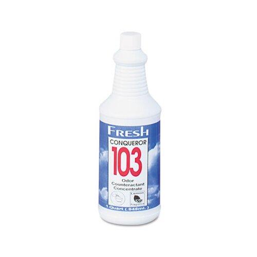 FRESH PRODUCTS Conqueror 103 Odor Counteractant Concentrate, Lemon, 32 Oz Bottle, 12/Carton