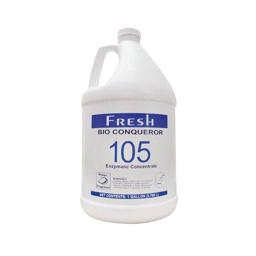FRESH PRODUCTS 1 Gallon Bio Conqueror 105 Enzymatic Odor Counteractant Concentrate Mango