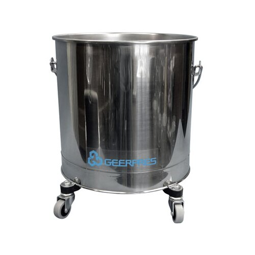 """Geerpres® Stainless Steel 8 Gallon Round Mop Bucket with 2"""" Casters"""