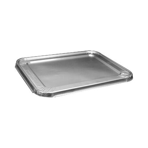 "HANDI-FOIL® 0.7"" Steam Table Pan Foil Lid 100/Pack Fits Half-Size Pan"