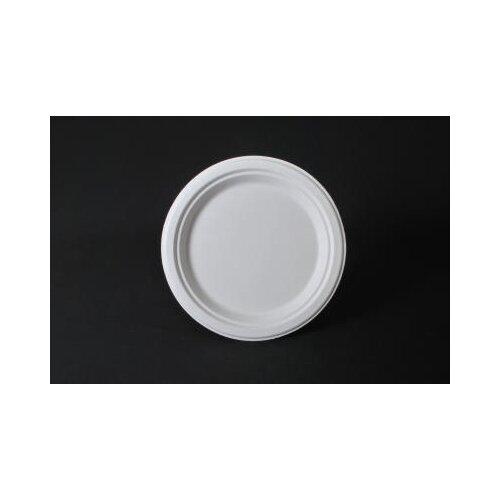 """SCT® 10"""" ChampWare Heavyweight Bagasse Dinnerware Plate in White"""