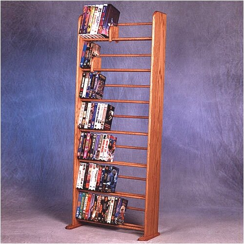Wood Shed 700 Series 280 DVD Dowel Multimedia Storage Rack