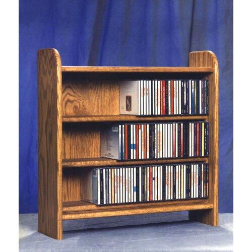 Wood Shed 300 Series 165 CD Multimedia Tabletop Storage Rack