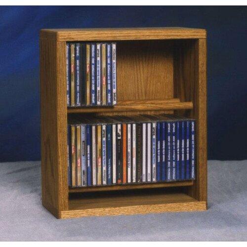 Wood Shed 200 Series 52 CD Multimedia Tabletop Storage Rack