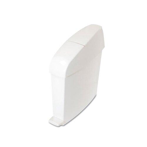 TC® 3 Gallons Rectangular Sanitary Bin in White